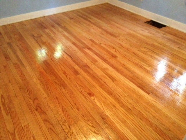 a beautifully refinished hardwood floor