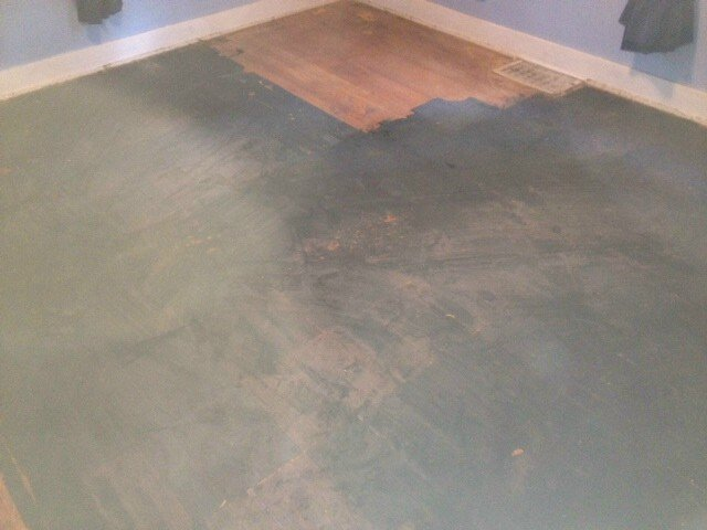 blackened hardwood floor