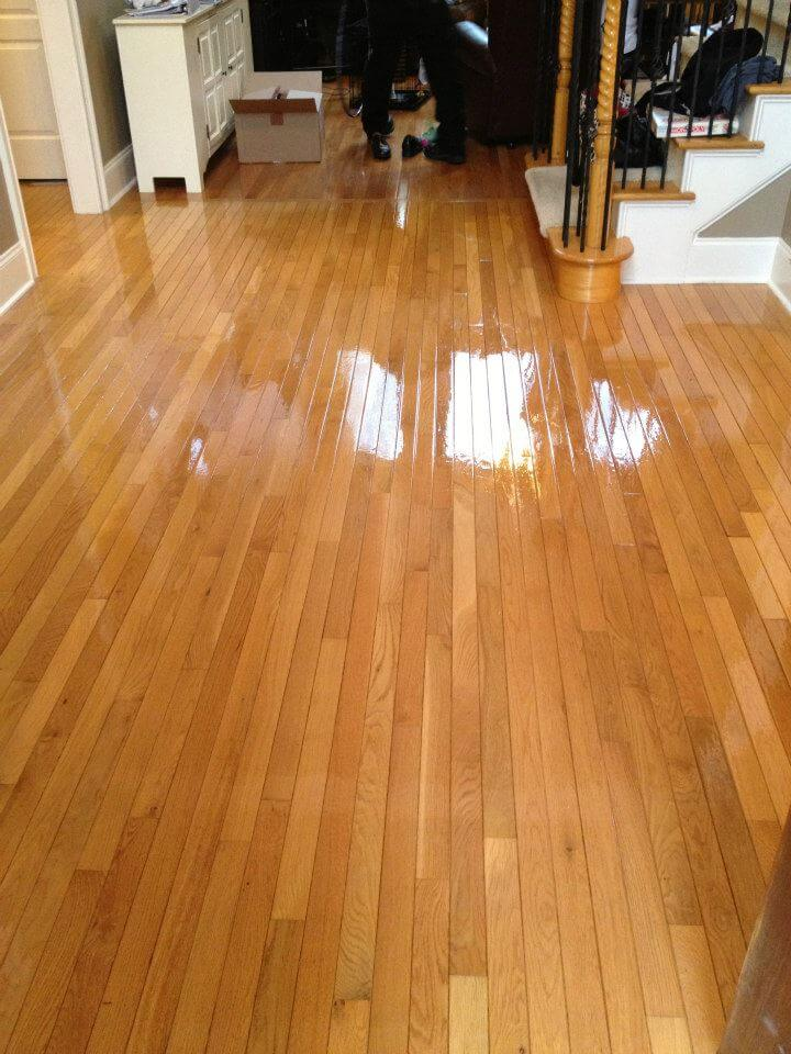 a finished Fabulous Floors hardwood floor resurfacing project.