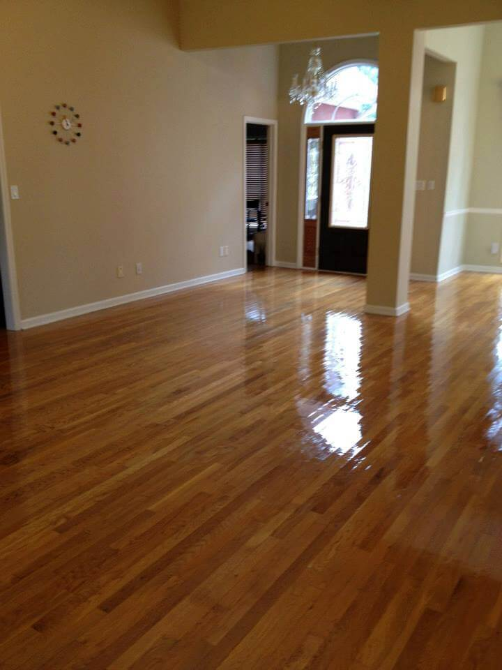a resurfaced hardwood floor in the lansing, mi area