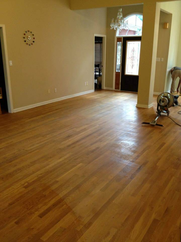 a light brown colored hardwood floor