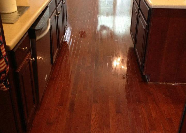 A beautifully resurfaced hardwood floor in detroit.