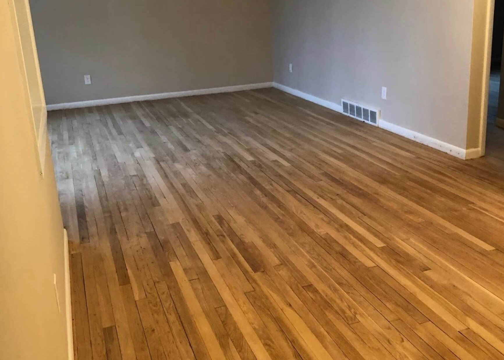 A floor that needs to be refinished