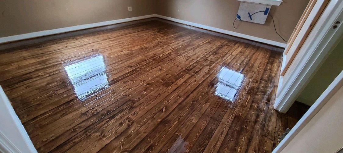 An image showing how well we resurface hardwood floors in the detroit area.