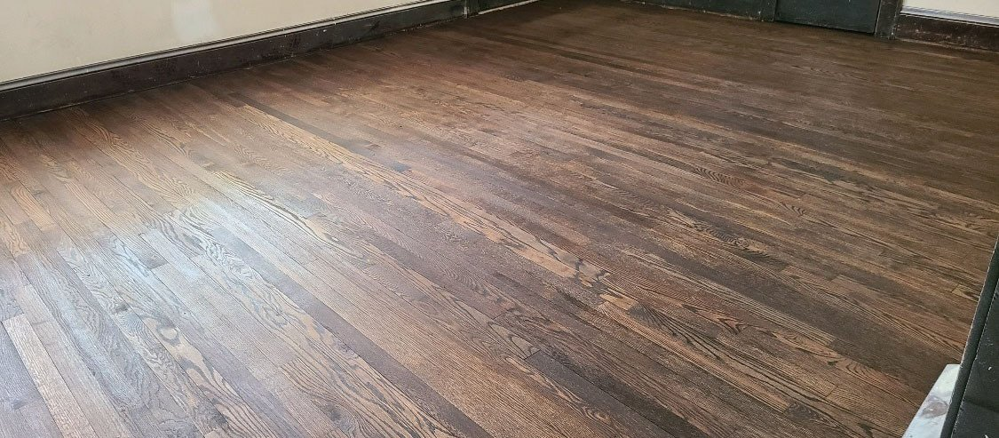 a recently completed Fabulous Floors Hardwood floor refinishing project.